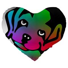 Dog 19  Premium Heart Shape Cushion
