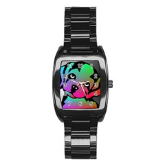 Dog Stainless Steel Barrel Watch