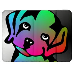 Dog Samsung Galaxy Tab 7  P1000 Flip Case
