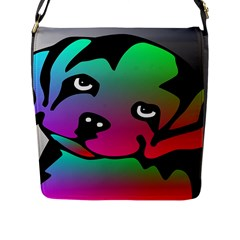 Dog Flap Closure Messenger Bag (Large)