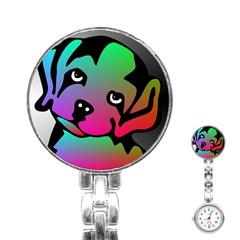 Dog Stainless Steel Nurses Watch