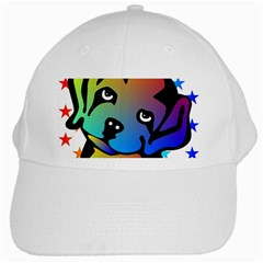 Dog White Baseball Cap