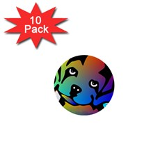 Dog 1  Mini Button (10 Pack)