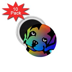 Dog 1.75  Button Magnet (10 pack)