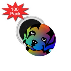 Dog 1.75  Button Magnet (100 pack)