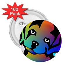 Dog 2 25  Button (100 Pack)