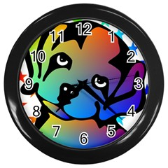 Dog Wall Clock (black)