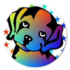 Dog Magnet 5  (Round)