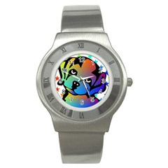 Dog Stainless Steel Watch (Slim)