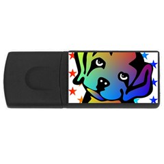 Dog 4gb Usb Flash Drive (rectangle)
