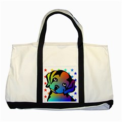 Dog Two Toned Tote Bag