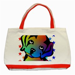 Dog Classic Tote Bag (Red)