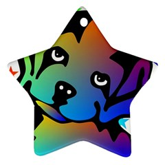 Dog Star Ornament (Two Sides)