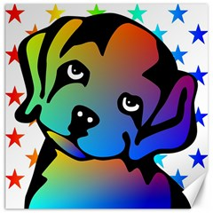 Dog Canvas 16  x 16  (Unframed)
