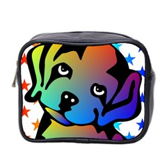 Dog Mini Travel Toiletry Bag (two Sides)