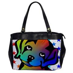 Dog Oversize Office Handbag (one Side)