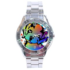 Dog Stainless Steel Watch