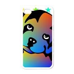Dog Apple Iphone 4 Case (white)
