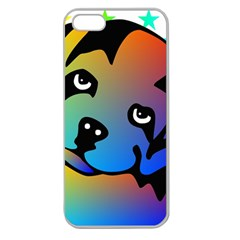 Dog Apple Seamless Iphone 5 Case (clear)