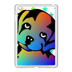 Dog Apple Ipad Mini Case (white)