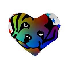Dog 16  Premium Heart Shape Cushion