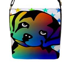 Dog Flap Closure Messenger Bag (Large)