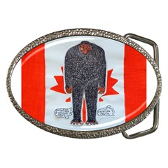 Big Foot H, Canada Flag Belt Buckle (Oval)