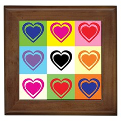 Hearts Framed Ceramic Tile
