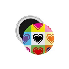 Hearts 1.75  Button Magnet