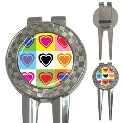 Hearts Golf Pitchfork & Ball Marker