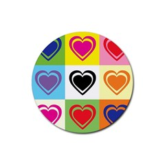 Hearts Drink Coasters 4 Pack (Round)
