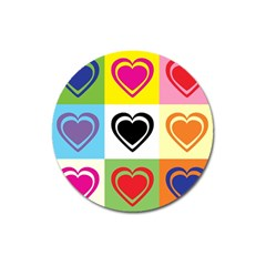 Hearts Magnet 3  (round)