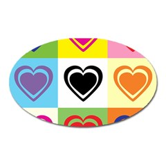 Hearts Magnet (Oval)