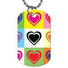 Hearts Dog Tag (One Sided)