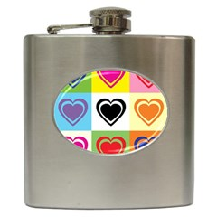 Hearts Hip Flask