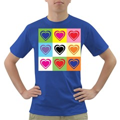 Hearts Men s T-shirt (Colored)