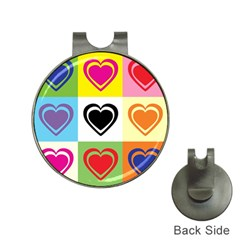 Hearts Hat Clip With Golf Ball Marker