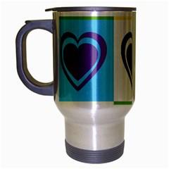Hearts Travel Mug (Silver Gray)