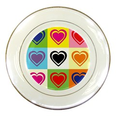 Hearts Porcelain Display Plate