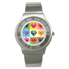 Hearts Stainless Steel Watch (slim)