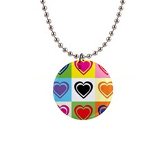 Hearts Button Necklace