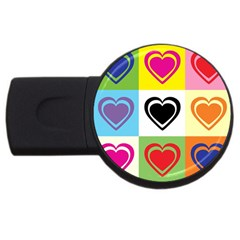 Hearts 4gb Usb Flash Drive (round)