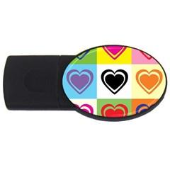 Hearts 4GB USB Flash Drive (Oval)