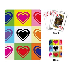 Hearts Playing Cards Single Design