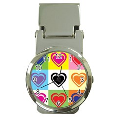 Hearts Money Clip with Watch