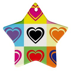 Hearts Star Ornament (Two Sides)