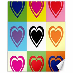 Hearts Canvas 16  x 20  (Unframed)