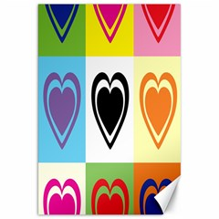 Hearts Canvas 20  x 30  (Unframed)
