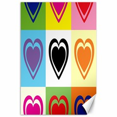 Hearts Canvas 24  x 36  (Unframed)
