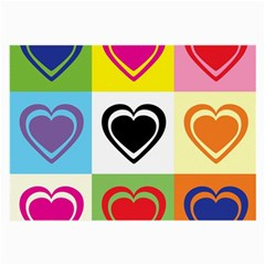 Hearts Glasses Cloth (large, Two Sided)